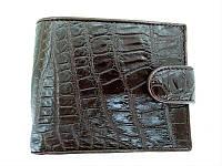 Мужской портмоне из кожи Крокодила 1001g. ALM 096-4 B Brown, фото 1