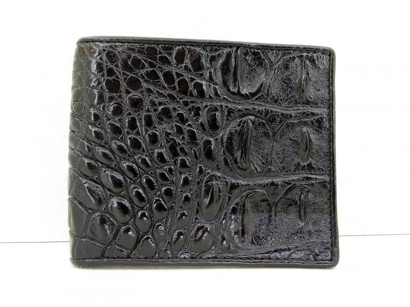 Мужской портмоне из кожи Крокодила 1001a. ALM 04 B Black