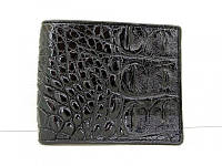 Мужской портмоне из кожи Крокодила 1001a. ALM 04 B Black, фото 1