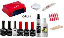 Стартовый набор Opium для покрытия гель-лаком + Лампа Diamond LED+CCFL 36 W
