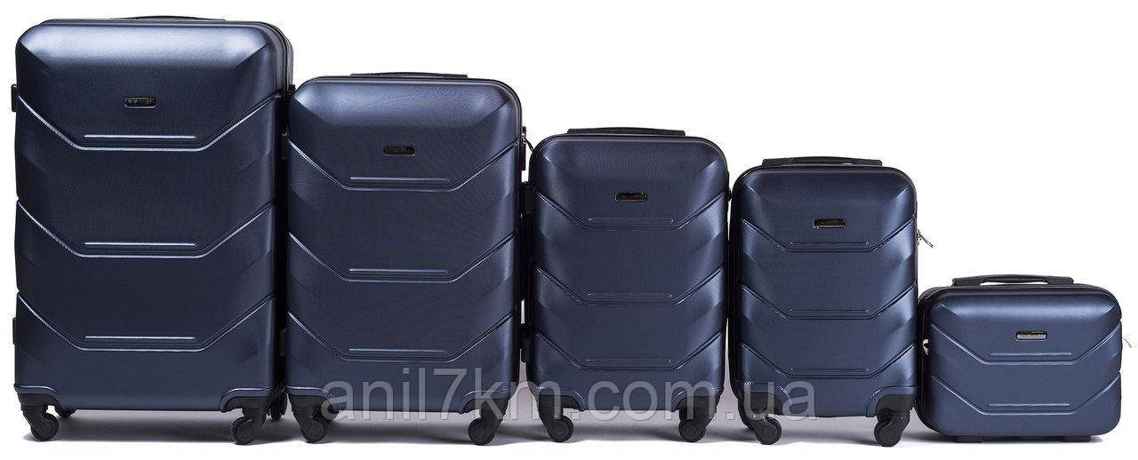 Набор чемоданов 5 штук в 1 Wings 147 на 4 колесах