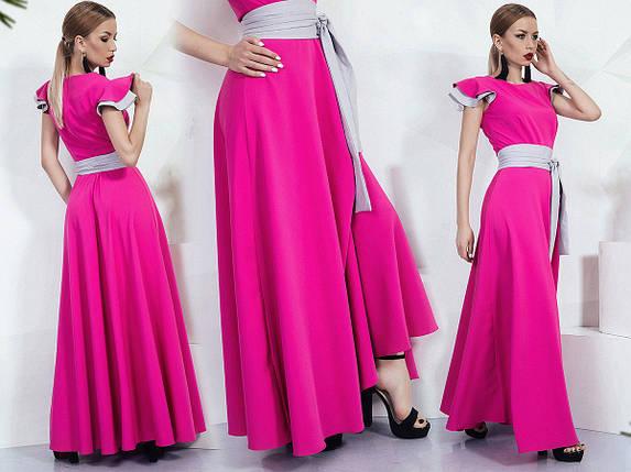 """Длинное летнее платье """"DONNA"""" с контрастным поясом (2 цвета), фото 2"""