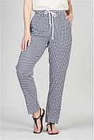 Женские летние брюки-штаны в мелкую клетку размеры 50-56, фото 1