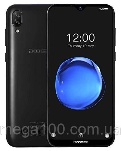 """Смартфон Doogee Y8C черный (""""6,1 дюймов, памяти 1/16Гб, батарея 3400мАч"""