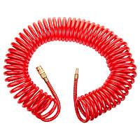 Шланг спиральный полиуретановый (PU) армированный 15 м 8×12 мм Refine 7013531, фото 1