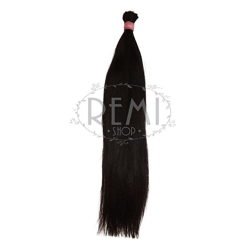 Славянские волосы в срезе 40 см. Цвет #Черный, фото 1