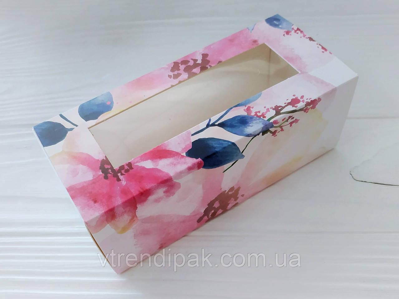 Коробка для macarons 140*60*50 Квіти