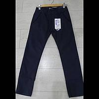 Котоновые синие детские брюки для мальчиков оптом GRACE