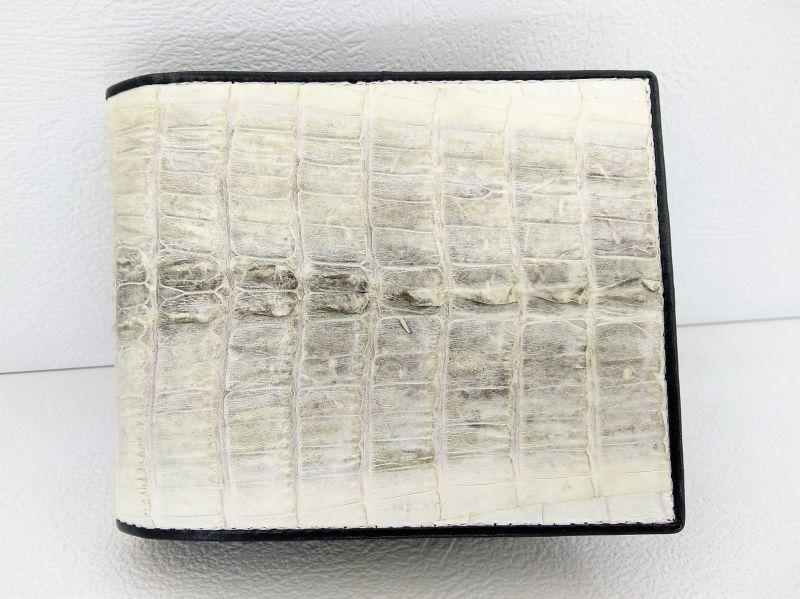 Мужской портмоне из кожи крокодила 11x9,5 см 1000f. ALM 7 T Natural