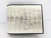 Мужской портмоне из кожи крокодила 11x9,5 см 1000f. ALM 7 T Natural, фото 1