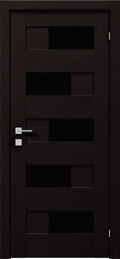 Двери Родос Modern Verona полустекло BLK графит