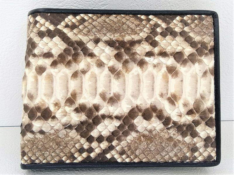 Чоловіче портмоне зі шкіри Пітона 11х9,5 см 2801a. PT 03B Natural