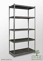 245х120х45, 6 металлических полок 250 кг на полку Стеллаж Unirade оцинкованный полочный для дома в офис склад архив магазин витрину