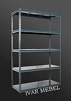 264х91х45, 7 металлических полок 250 кг на полку Стеллаж Unirade крашеный полочный для дома в офис склад архив магазин витрину