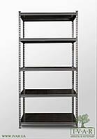 264х91х45, 7 металлических полок 150 кг на полку Стеллаж Unirade оцинкованный полочный для дома в офис склад архив магазин витрину цельная стойка