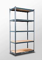 221х110х35, 5 полок МДФ 220 кг на полку Стеллаж Unirade оцинкованный полочный для дома в офис склад архив магазин витрину