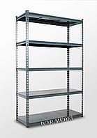 221х110х45, 5 металлических полок 200 кг на полку Стеллаж Unirade оцинкованный полочный для дома в офис склад архив магазин витрину
