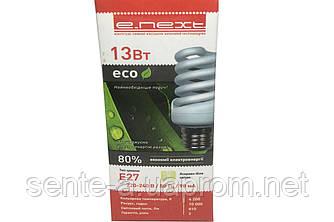 Лампа энергосберегающая 13W 4200K E27  E.NEXT