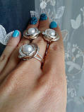 Серебряный набор украшений 058 серьги и кольцо, фото 5