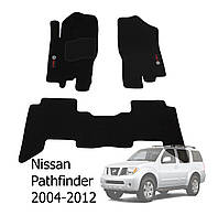 Коврики в салон Nissan Pathfinder 2004-2012 (5 шт.) Ciak черн. вышивка