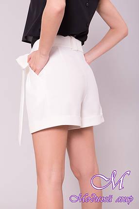 Женские белые шорты с высокой талией (р. S, M, L) арт. 7329 - 42997, фото 2