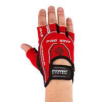 Перчатки для фитнеса и тяжелой атлетики Power System Pro Grip EVO PS-2250E L Red, фото 1
