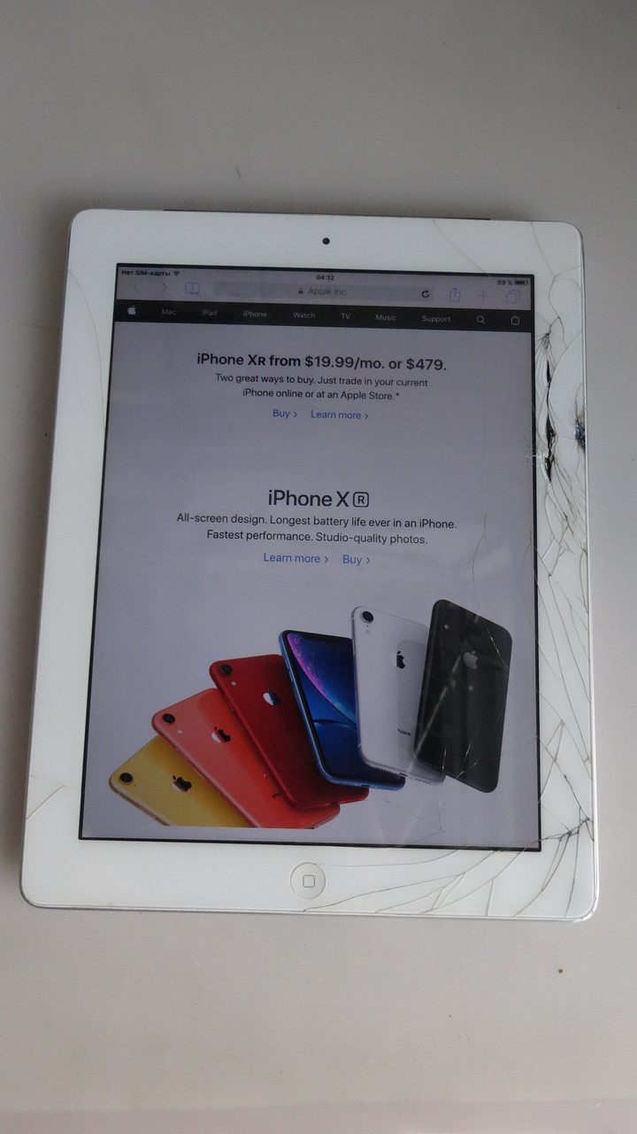 Apple iPad 2 32GB 3G белый - состояние тяжелое №11806