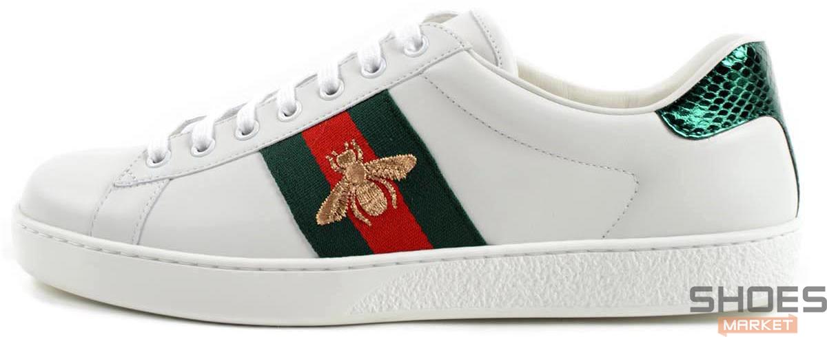Женские кроссовки Gucci Ace Embroidered 429446 A38G0 9064, Гуччи Эйс Емброидеред