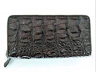 Мужской кошелек из кожи крокодила 1019a. ZAM 15 BS Brown, фото 1
