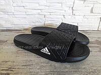 Мужские шлепанцы в стиле Adidas  (черные),  40, 44