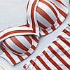 Женский купальник завышенная талия полоска Моника PUSH UP в наличии размер S, L, фото 2