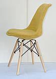 Стул Milan B Шенилл, желтый, фото 3