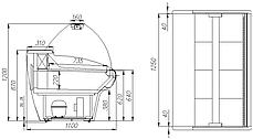 Холодильная витрина Carboma ВХС-1,25, фото 2