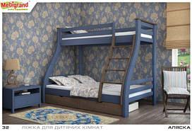 Семейная двухъярусная кровать Аляска.(1200х800х2000 мм). Mebigrand.