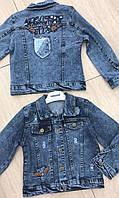 Джинсовая куртка  для девочек от 5 до 8 лет