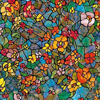 Самоклейка, цветная, яркая, цветы,  dc-fix, германия, витражная для стекол, 45 cm
