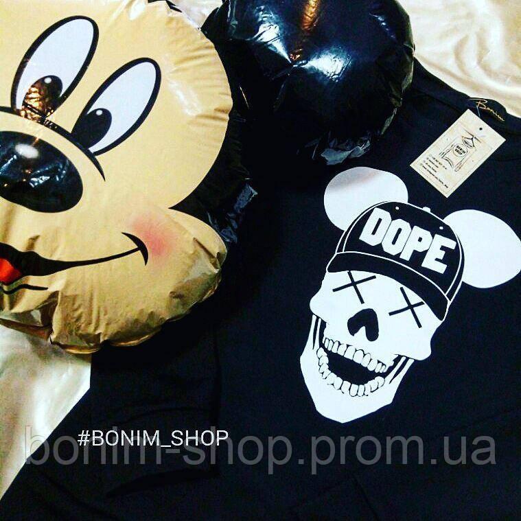 Черный женский свитшот с принтом Dope