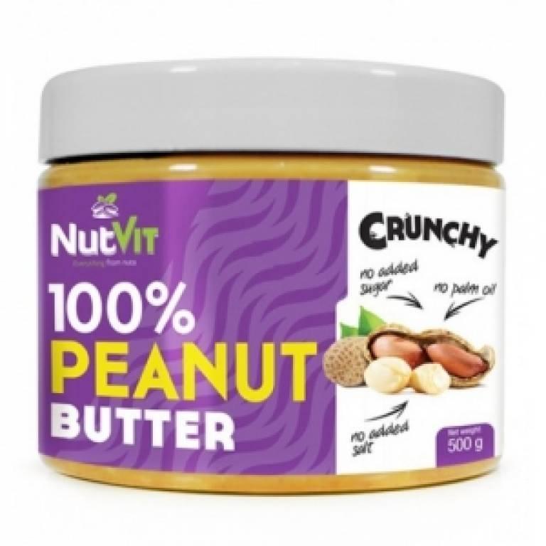 Натуральное арахисовое масло OstroVit 100% Peanut Butter Crunchy (500 g)