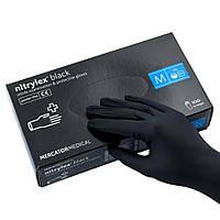Перчатки чёрные Nitrylex Black нитриловые неопудренные M RD30104003