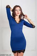 Спокусливе приталені плаття з V-подібним вирізом і мереживний кромкою Donna