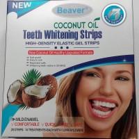 Полоски для отбеливания зубов с кокосовым маслом Beaver Teeth Whitening Coconut Oil Strips Blue, 14 шт.