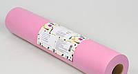 Одноразовая простынь в рулоне Спанбонд Panni Mlada 20 г/м² 0,6x500 м Розовая, фото 1