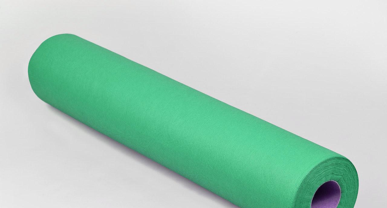 Одноразовая простынь в рулоне Спанбонд Panni Mlada 20 г/м² 0,6x500 м Зеленая