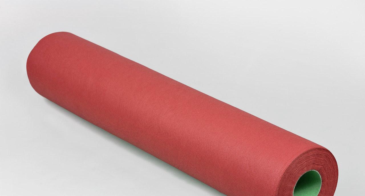 Одноразовая простынь в рулоне Спанбонд Panni Mlada 20 г/м² 0,6x500 м 10 УП 10 ШТ Бордовая
