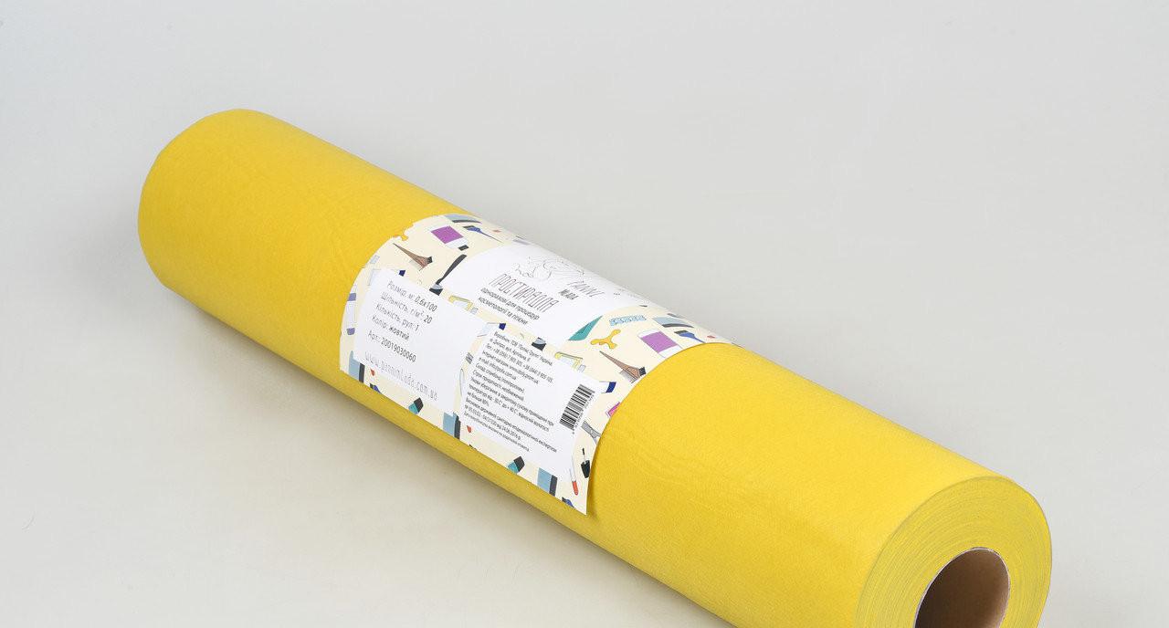 Одноразовая простынь в рулоне Спанбонд Panni Mlada 20 г/м² 0,6x500 м 10 УП 10 ШТ Желтая