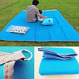 Пляжный коврик подстилка покрывало анти песок VOLRO SAND MAT 150х200 см Blue (vol-241), фото 3