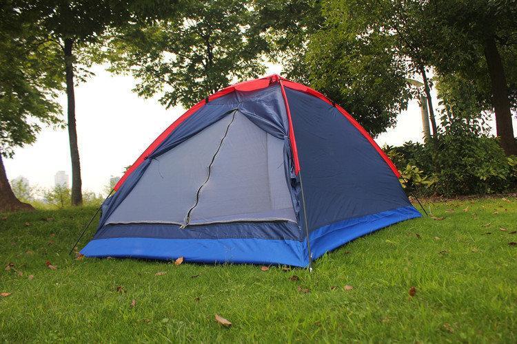 Палатка туристическая 4 местная 210х210х140см намет