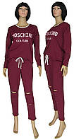 NEW! Модные женские костюмы Moschino Осень Bordo ТМ УКРТРИКОТАЖ!