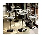 Стол барный Амира, регулируемый, черный, d60 см, h70-90 см, фото 3