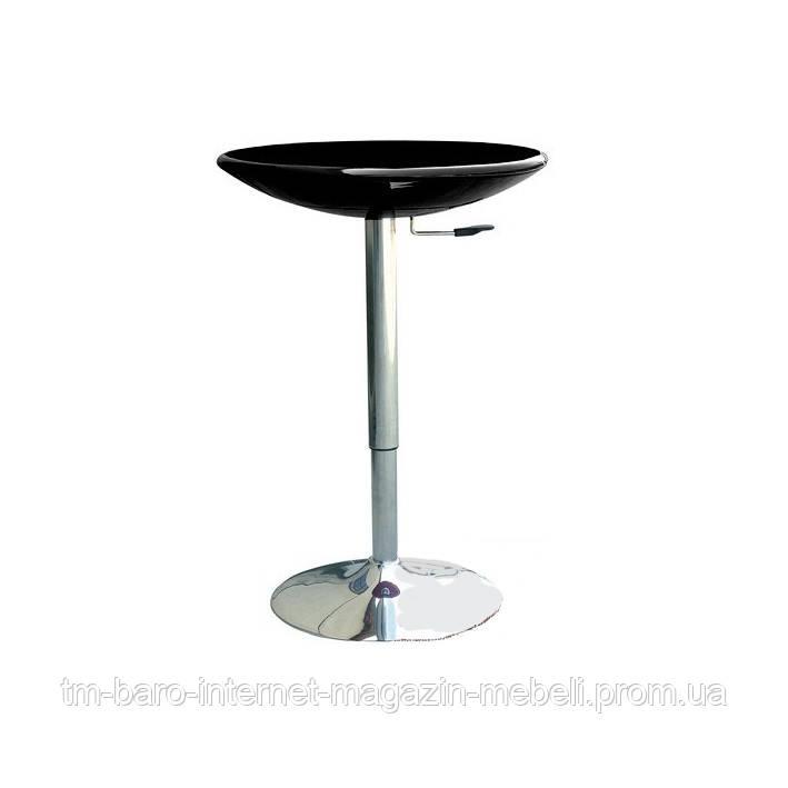 Стол барный Амира, регулируемый, черный, d60 см, h70-90 см